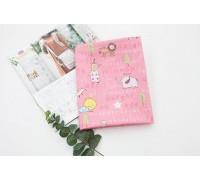 Саржа Животные счастливые друзья - розовый (a2261)