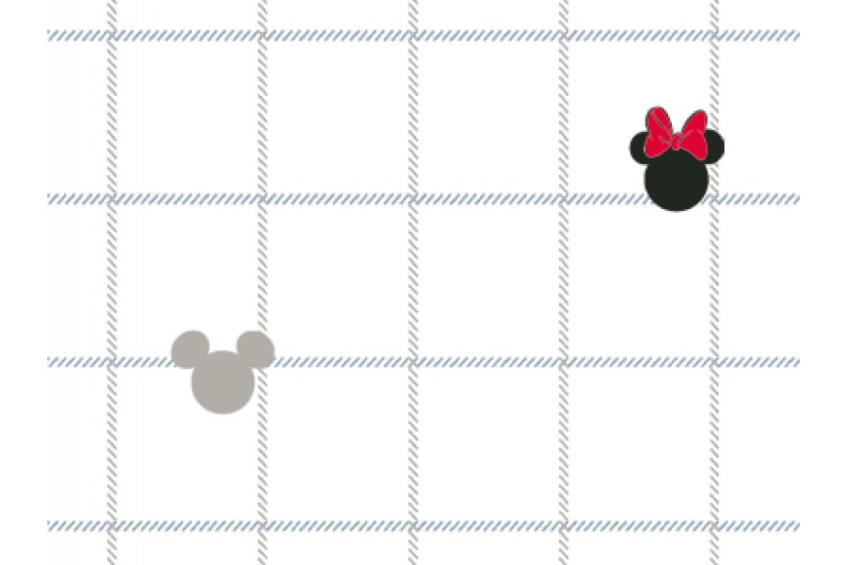 100% хлопок сатин Check Mickey DX0005 White