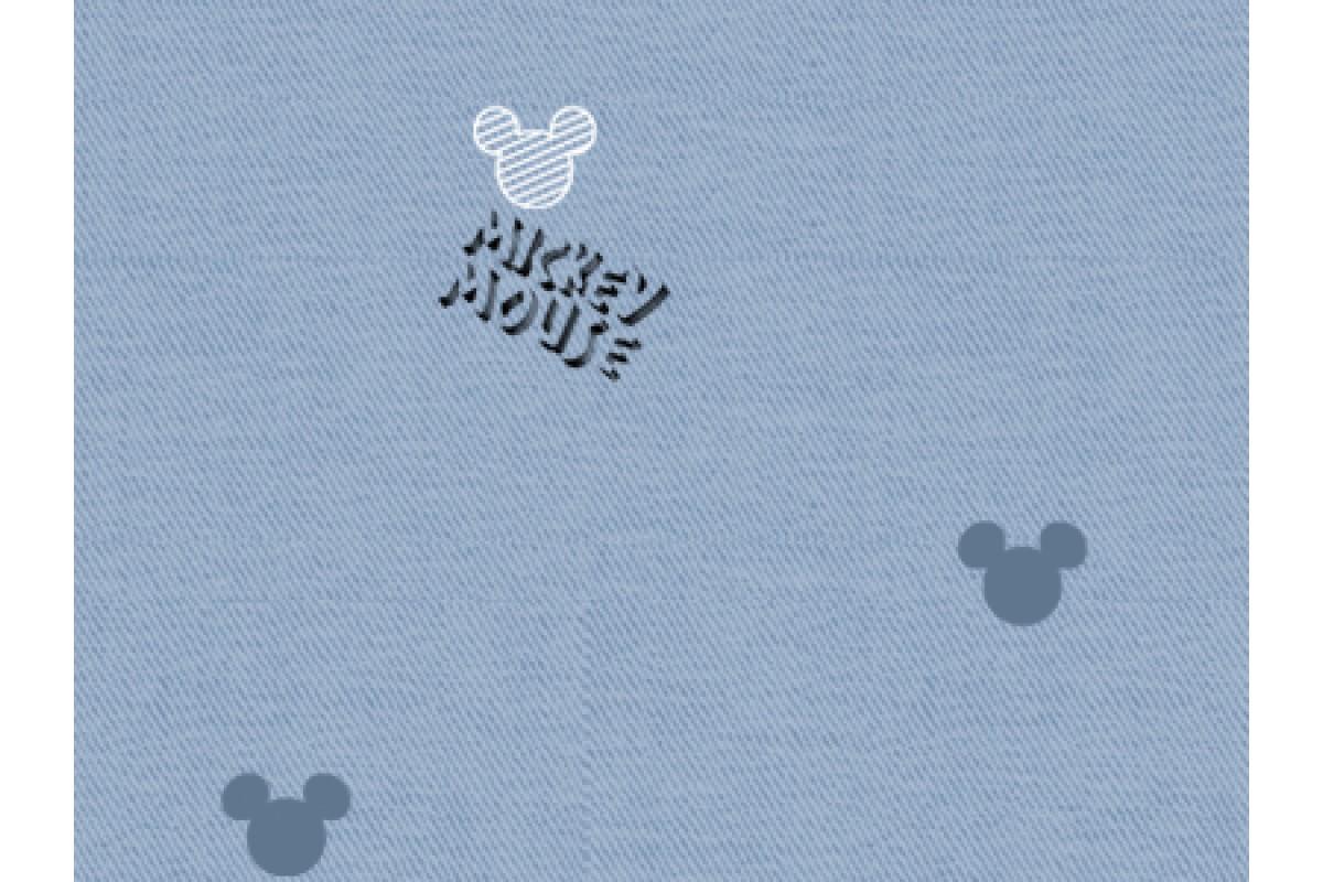 100% хлопок сатин Denim Mickey (DX0009)