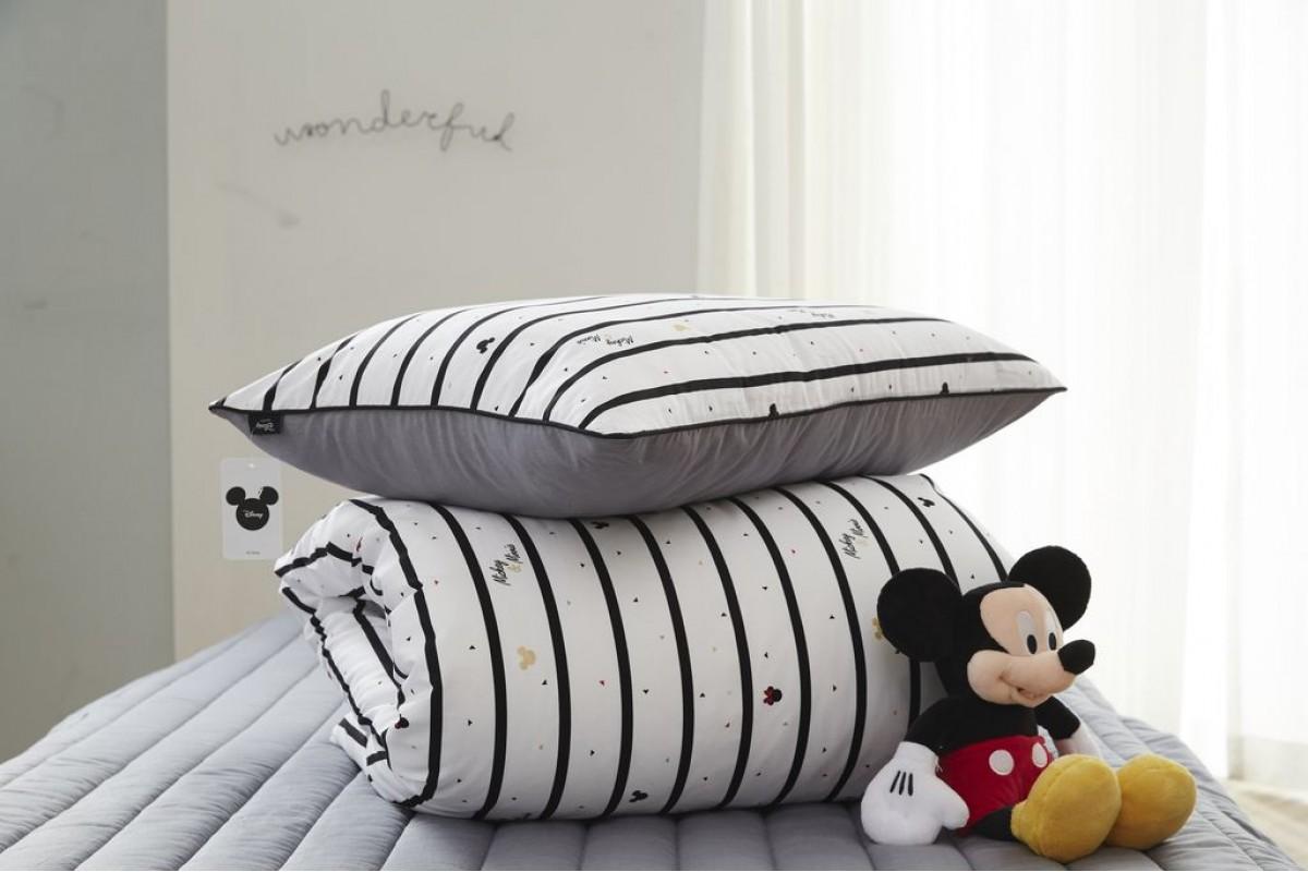 100% хлопок сатин Stripe Mickey (DX0008)