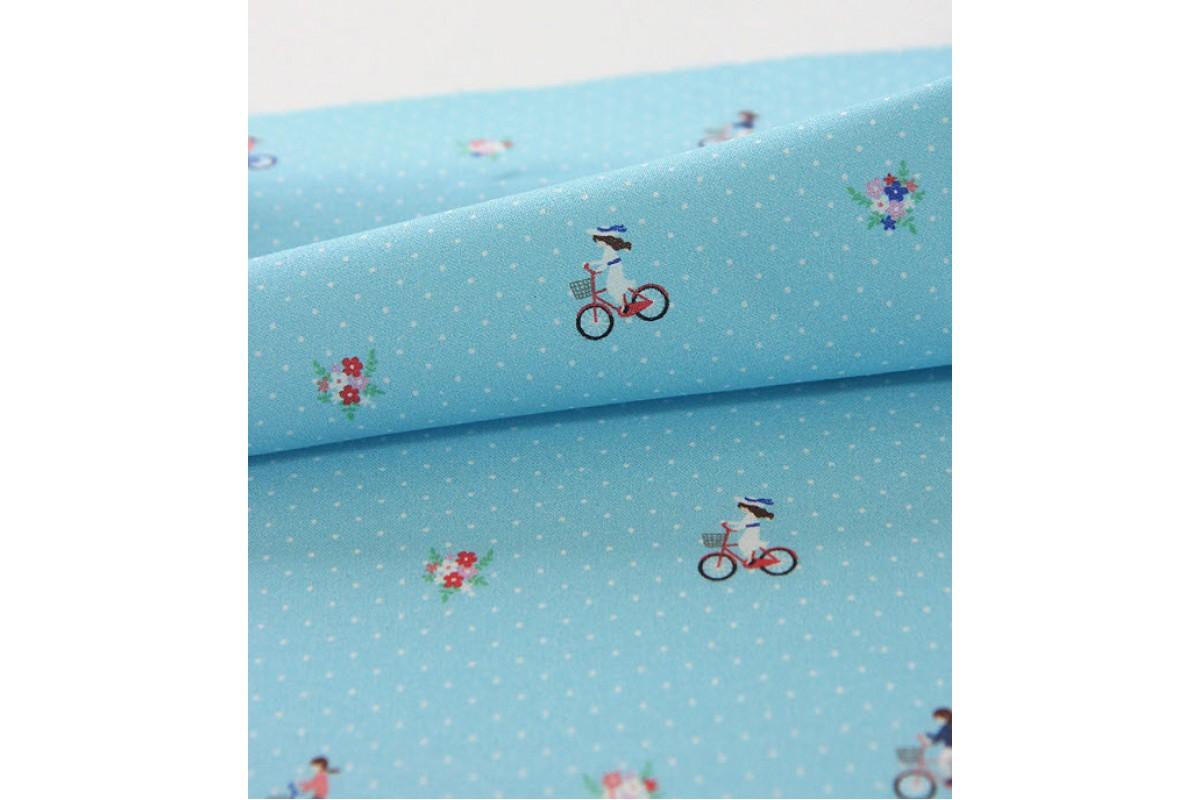 (2936) DTP Девочка на велосипеде (голубой)