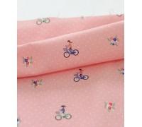 (2937) DTP Девочка на велосипеде (розовый)