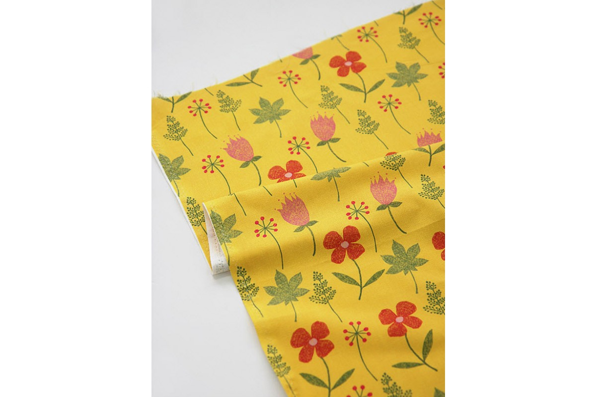 (3252) DTP крупные цветы (желтый)