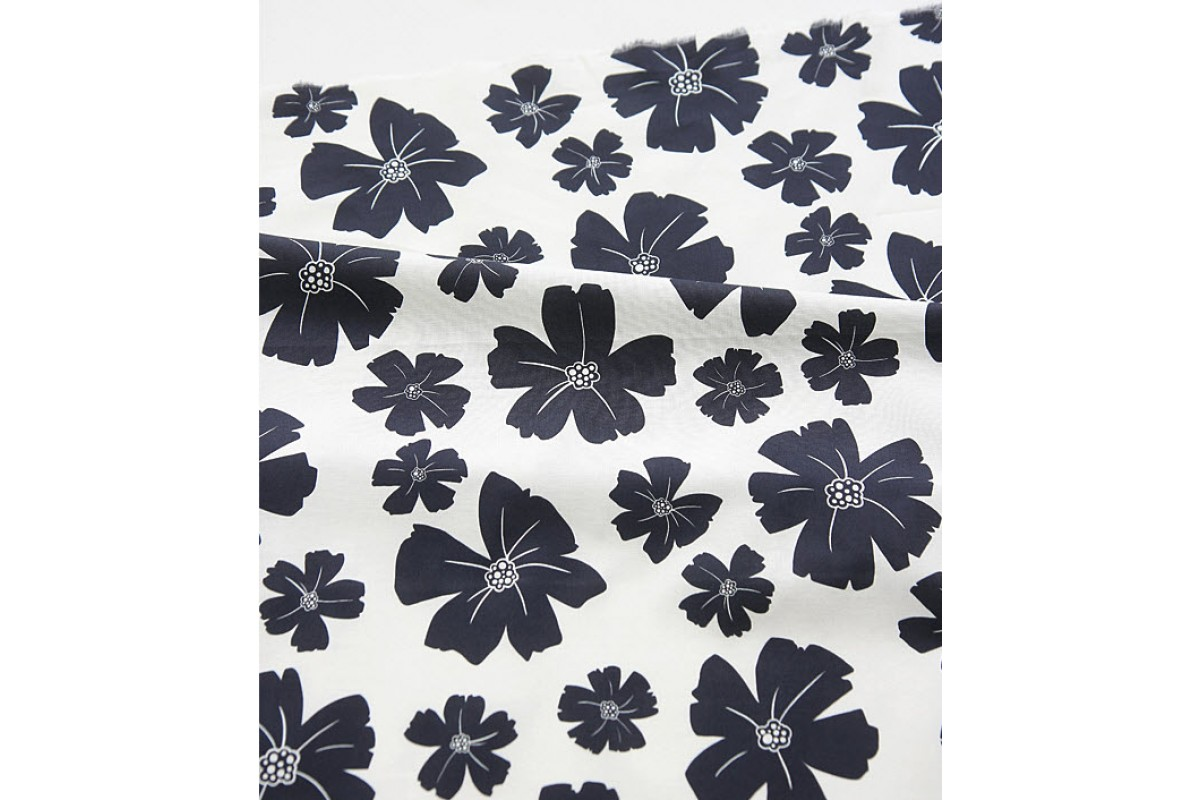 (3231) DTP Крупный цветок темно-синий