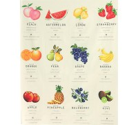 (2777) DTP Коллекция фруктов 100% хлопок (купон)