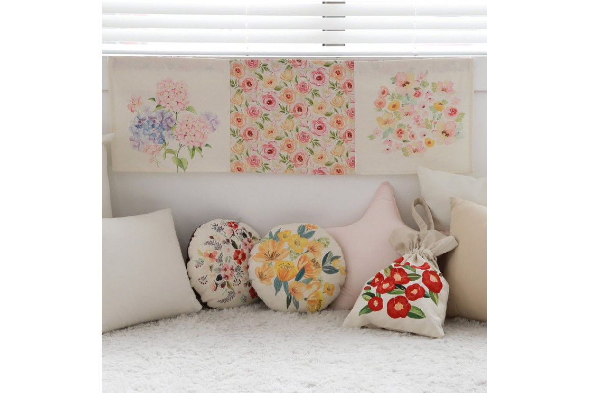 (P0000GTF) купон DTP лен цветочная фантазия (LYS3001)