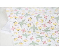 (3155) Цветы с птицами (светлый хакки)