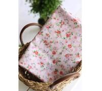 (113) Мелкие розы на розовом