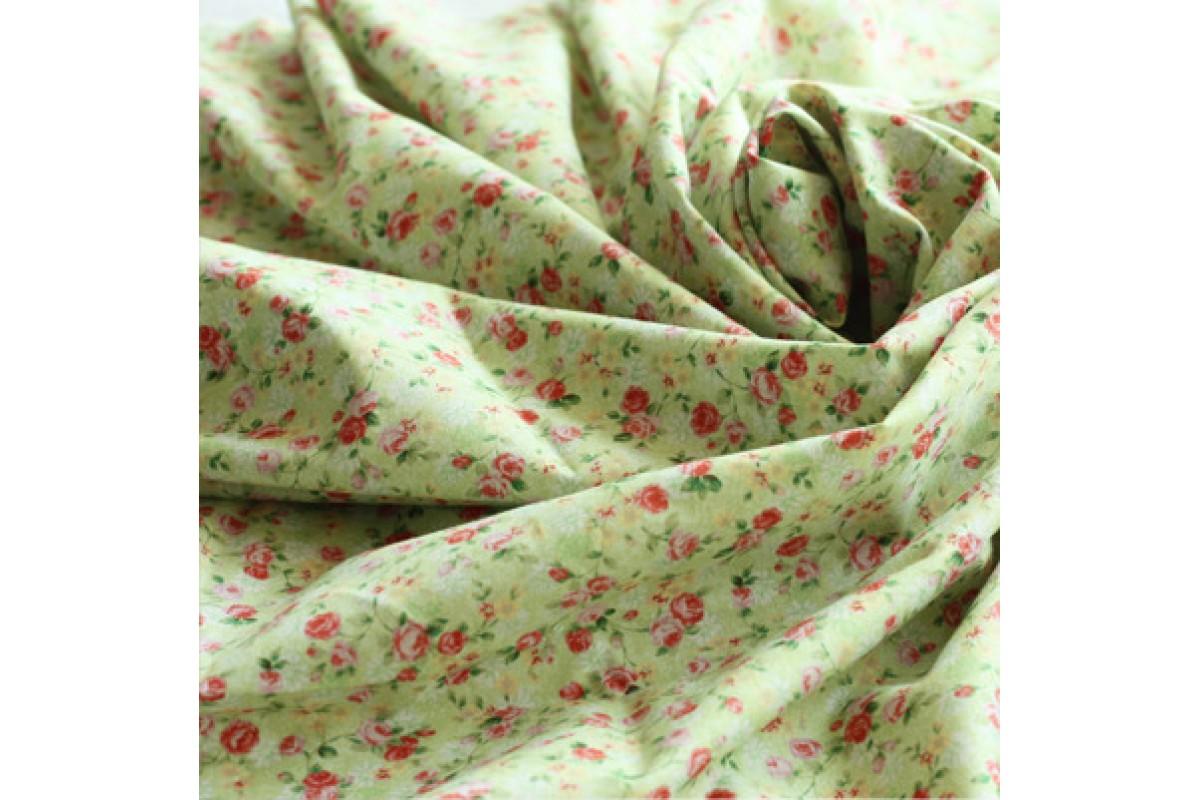 (114) Мелкие розы на зеленом (N1169)