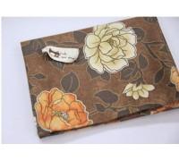 (1438) Крупные цветы (коричневый) R1377