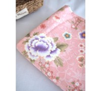 (1822) Крупные цветы (розовый)