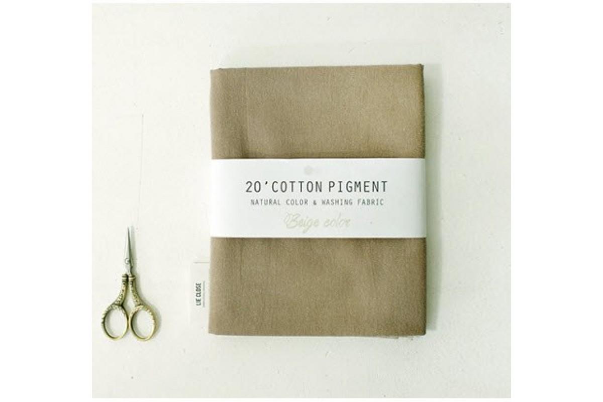(2997) 20 ' Cotton Pigment Natural Color &washing Fabric:#03 темно бежевый