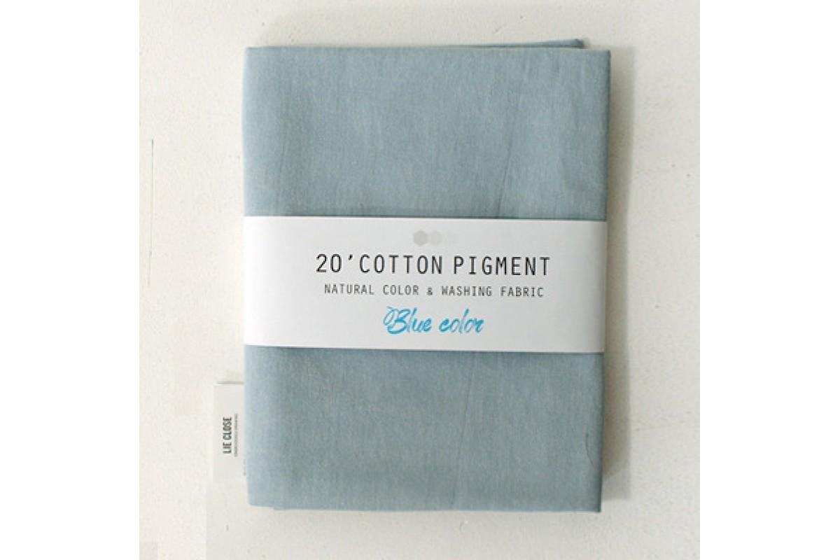 (3005) 20 ' Cotton Pigment Natural Color &washing Fabric:#12 светло-голубой