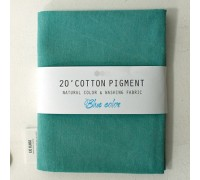 (3006) 20 ' Cotton Pigment Natural Color &washing Fabric:#13 бирюзовый