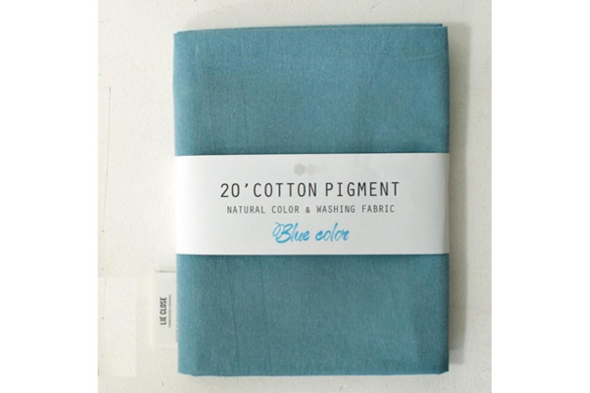 (3010) 20 ' Cotton Pigment Natural Color &washing Fabric:#18 голубой