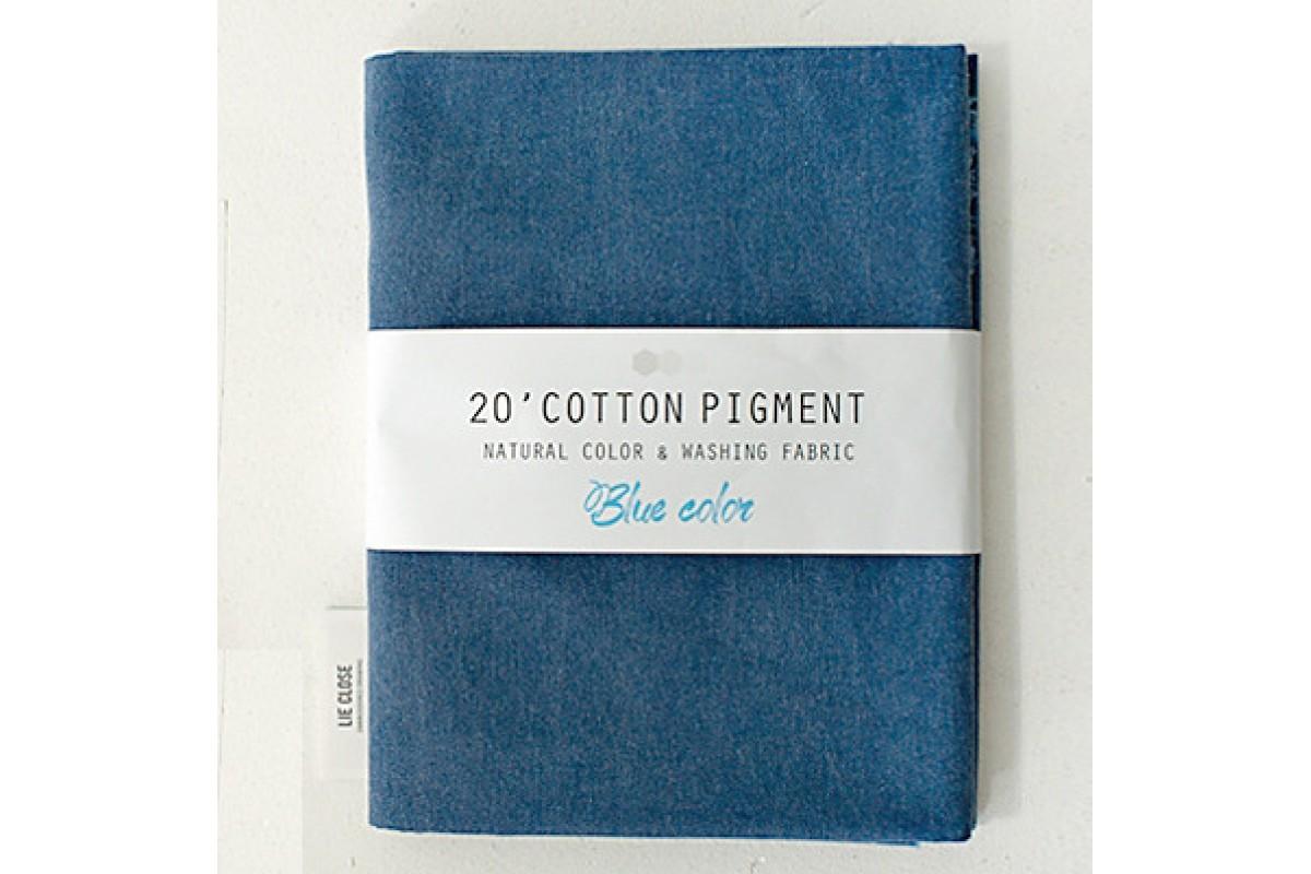 (3012) 20 ' Cotton Pigment Natural Color &washing Fabric:#20 темно-синий