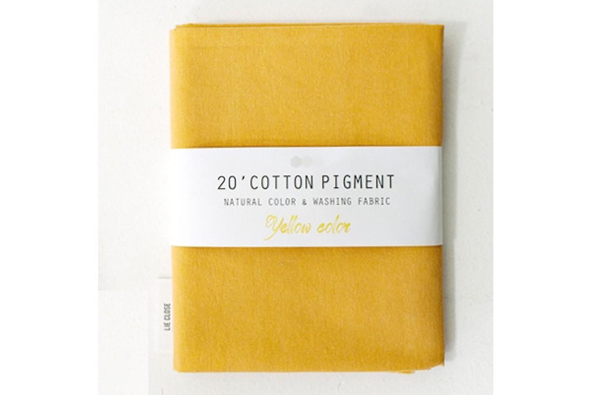 (3021) 20 ' Cotton Pigment Natural Color &washing Fabric:#30 темно-желтый