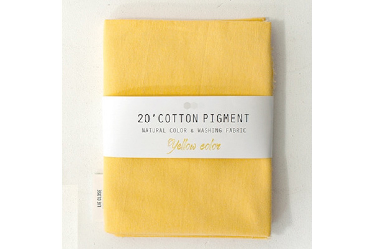 (3022) 20 ' Cotton Pigment Natural Color &washing Fabric:#31 желтый
