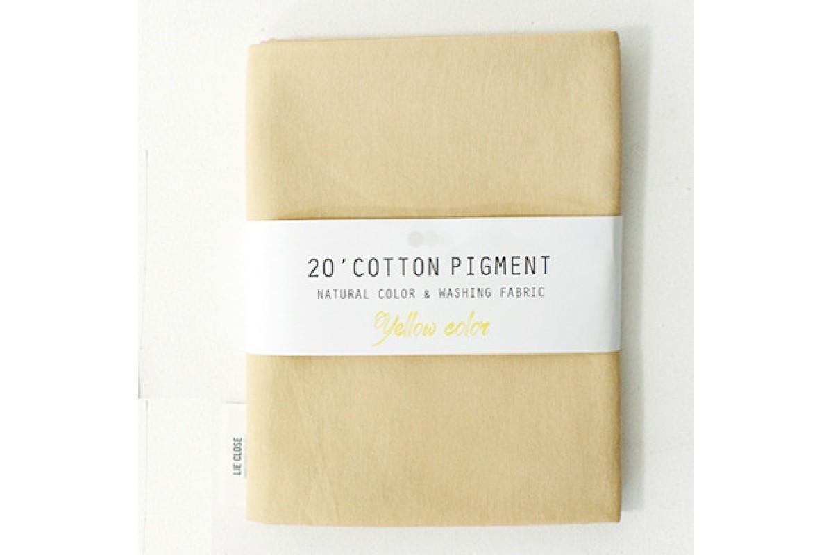 (3023) 20 ' Cotton Pigment Natural Color &washing Fabric:#32 желтый песок