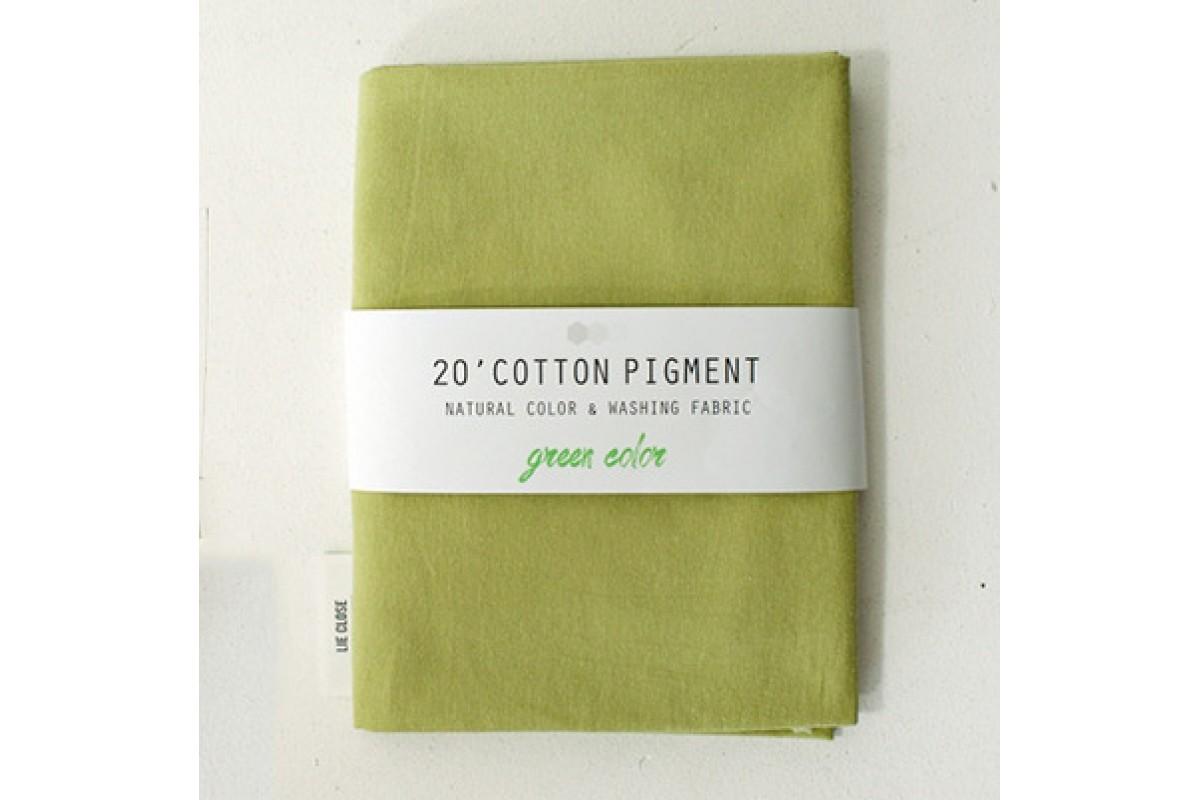 (3024) 20 ' Cotton Pigment Natural Color &washing Fabric:#33 желто-зеленый