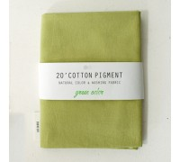 (3024) 20 ' Cotton Pigment Natural Color &washing Fabric:#33 желто-зеленый