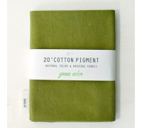 (3025) 20 ' Cotton Pigment Natural Color &washing Fabric:#34 темно-зеленый