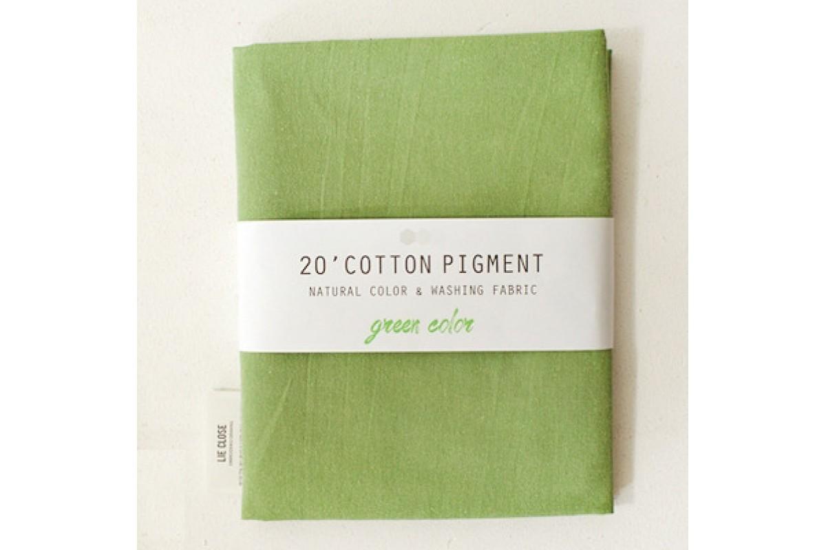 (3026) 20 ' Cotton Pigment Natural Color &washing Fabric:#35 зеленый
