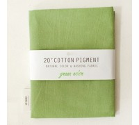 (3026) 20 ' Cotton Pigment Natural Color &washing Fabric:#35 зеленый