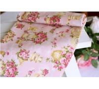 (120) Ваза с розами (розовый)