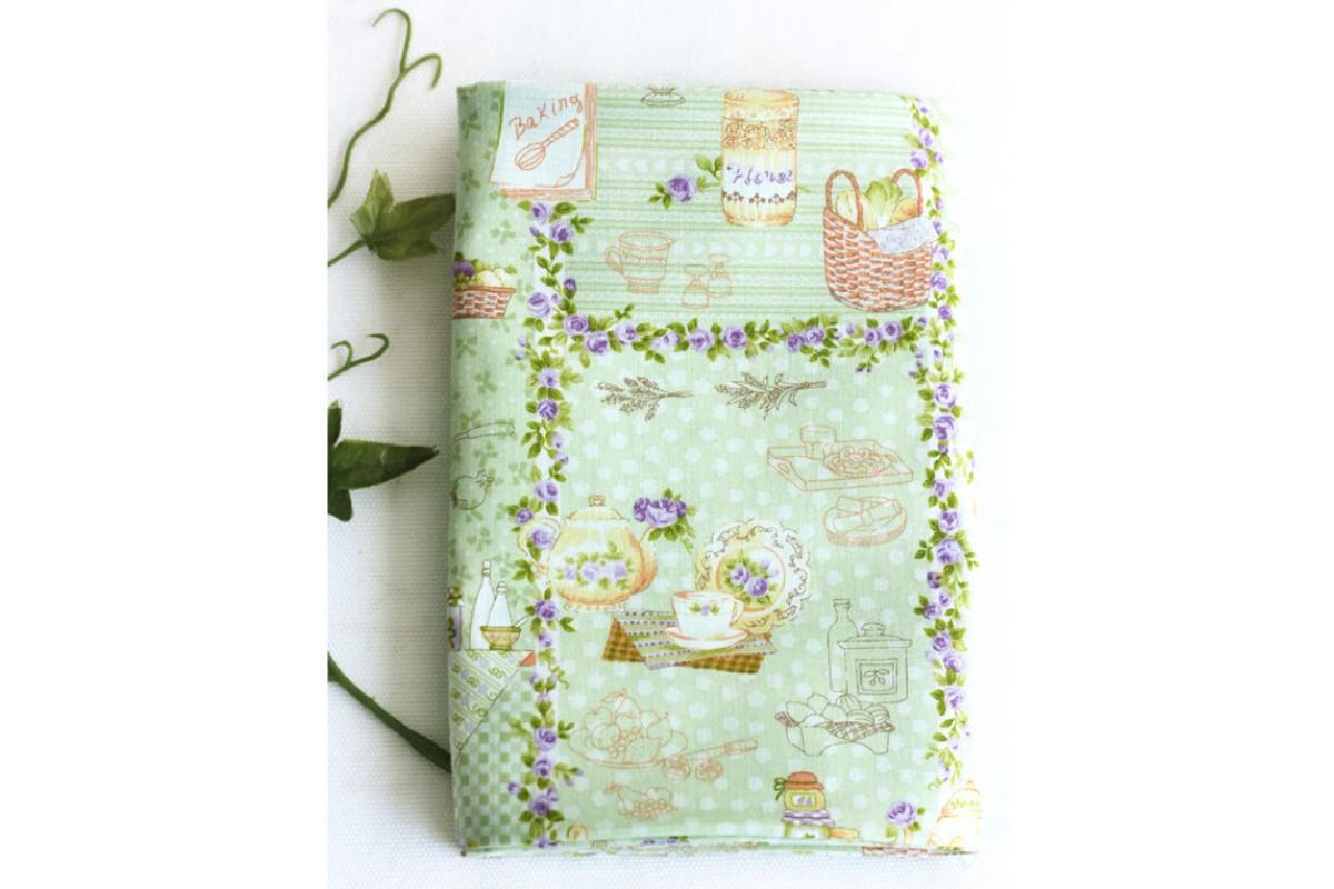 (123) Розовый сад кухня (зеленый) N1166