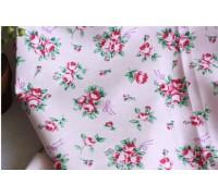 (124) Букет из роз на розовом