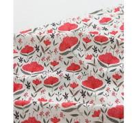 (3347) DTP Крупные красные цветы на белом