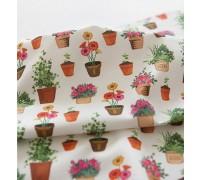 (3353) DTP Сад- цветы в горшках
