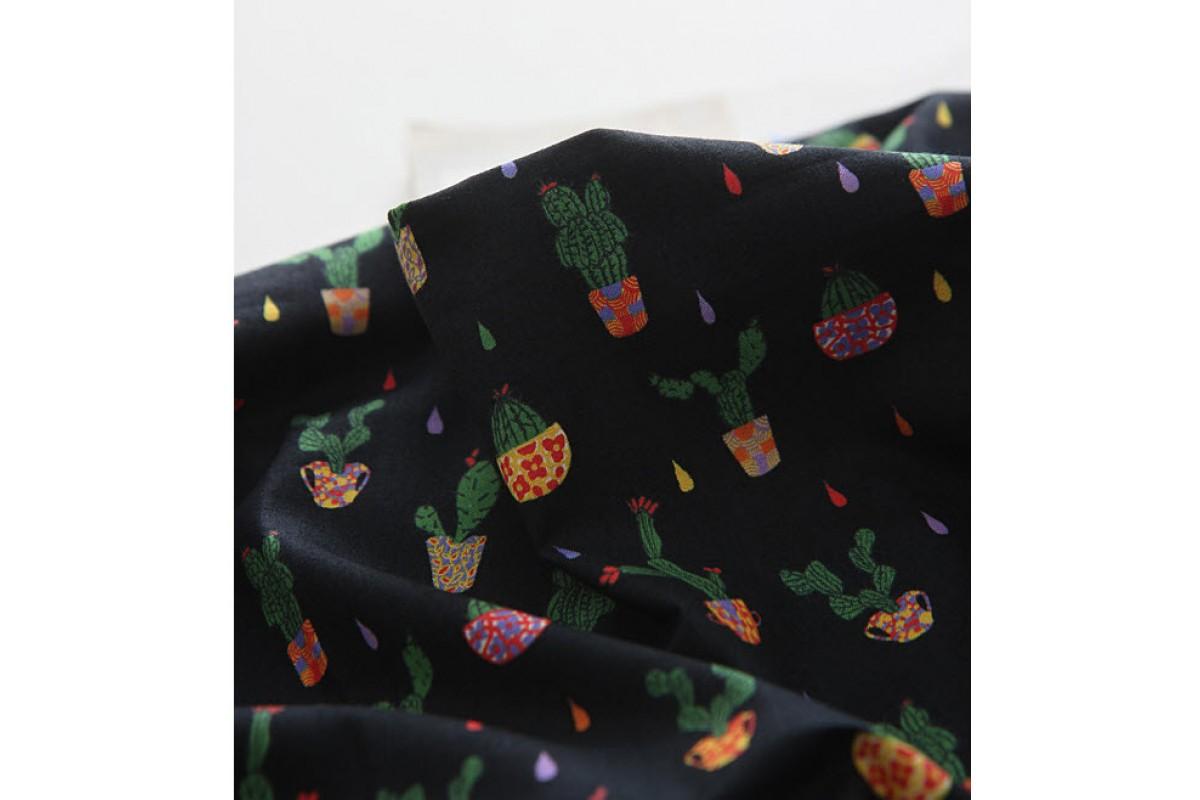 (3356) DTP Сад- кактусы (черный)
