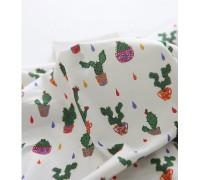 (3357) DTP Сад- кактусы (белый)