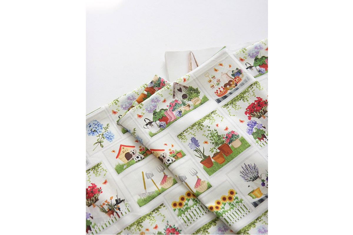 (3361) DTP Сад- цветники (белый)