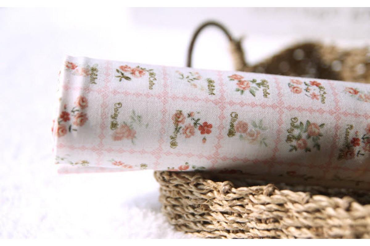 (1034) Цветы на розовом (N1250)