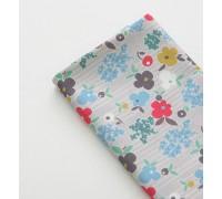 (3384) DTP Цветы (серый)