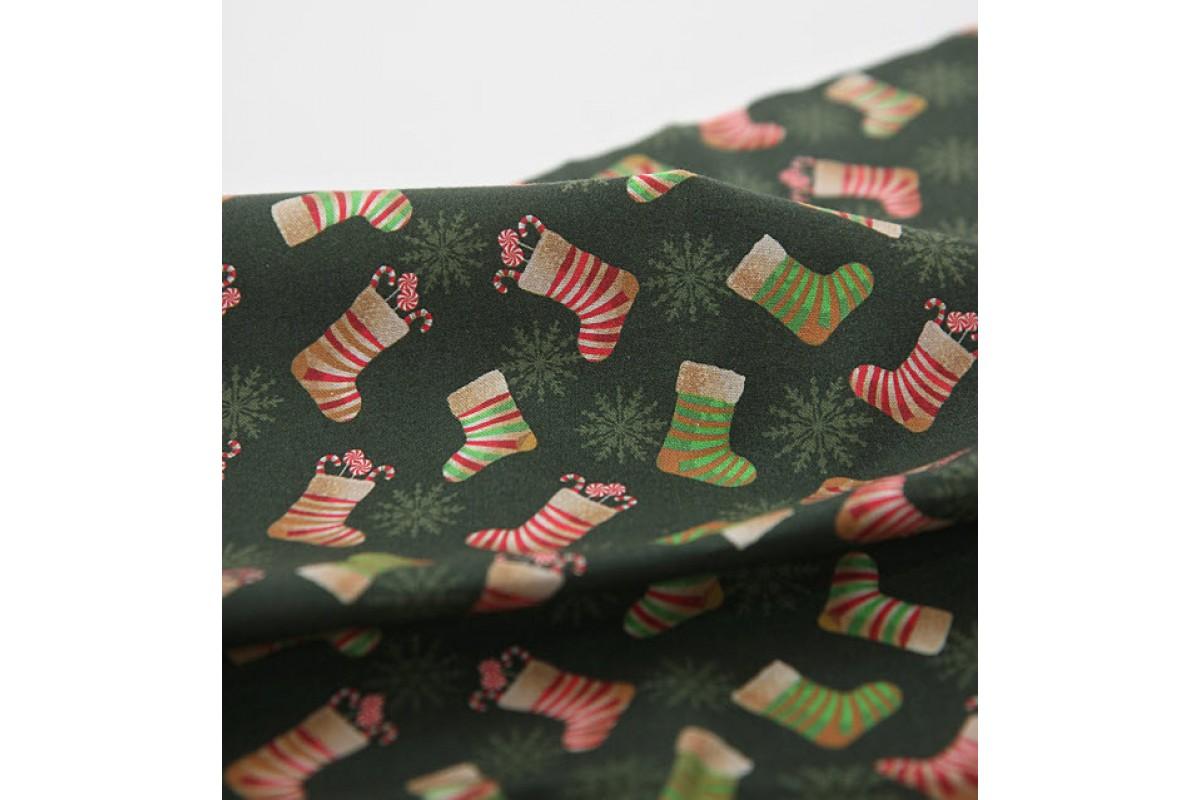 (3430) DTP Рождественский носок (зеленый)