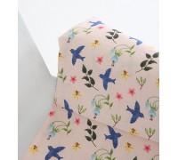 (3106) DTP Птицы и цветы на розовом