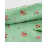 (2821) DTP  Мелкие цветочки (зеленый)