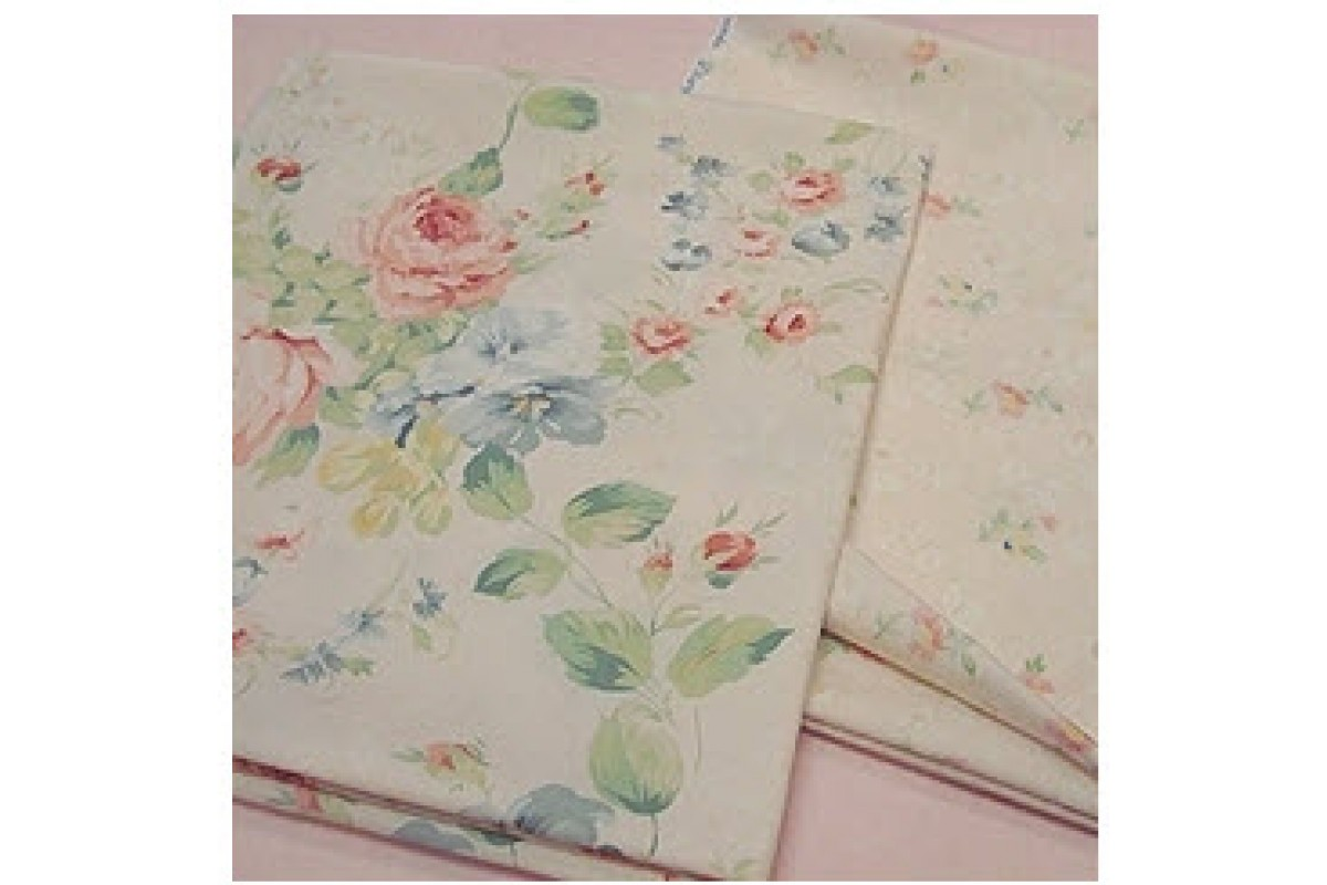 (FA1585) 100% хлопок Крупные розы (розовый)