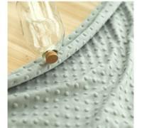 (QH59660) плюш 100% микрофибра (мятно-серый)