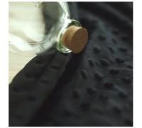 (QH59653) плюш 100% микрофибра (черный)