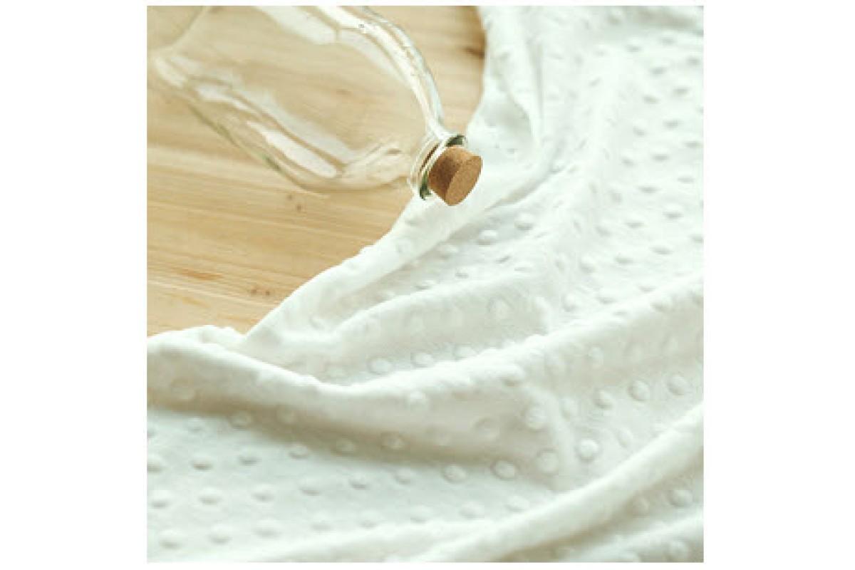 (QH59666) плюш 100% микрофибра (белый)